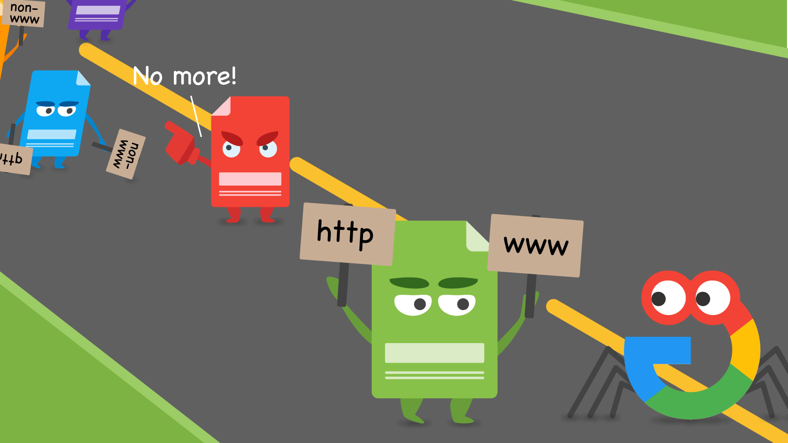 How to redirect to or away from www and http(s)