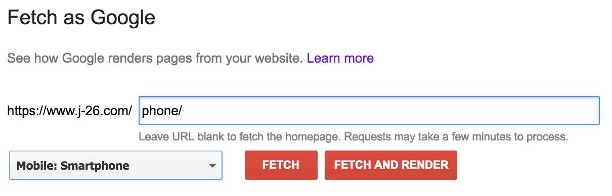 Fetch alternative version of your website